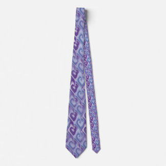 Fractal Hearts seamless pattern + your ideas Neck Tie