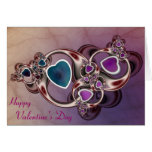 Fractal Hearts Valentine's Day Card
