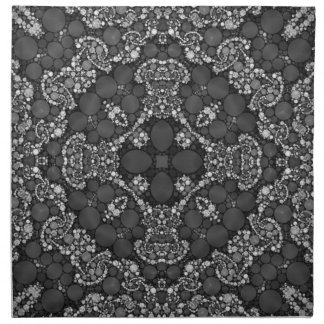 Fractal hermoso loco servilletas de papel