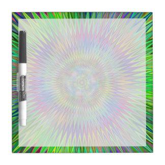 Fractal hipnótico de la explosión de la estrella pizarras blancas de calidad