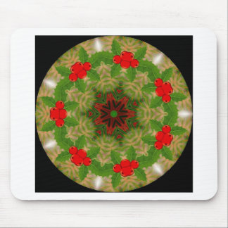 fractal holiday kaleidoscope mouse pad
