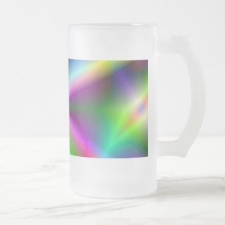 Fractal Hourglass Art Frosted Glass Beer Mug