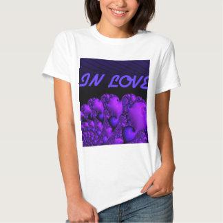 """fractal """"in love""""blue tees"""