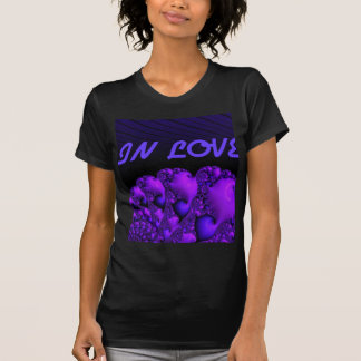 "fractal ""in love""blue tshirts"