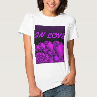 """fractal """"in love"""" pink tshirt"""