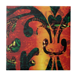 Fractal Inferno Calamity Ceramic Tiles