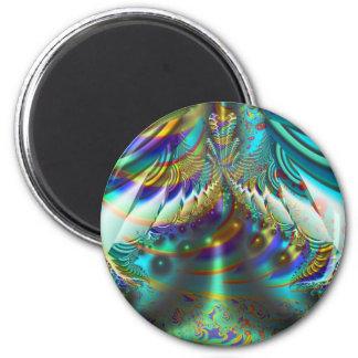 Fractal inner worlds 2 inch round magnet