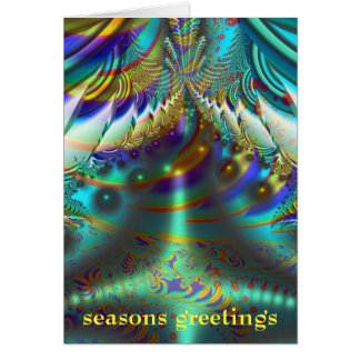Fractal inner worlds seasons greetings cards