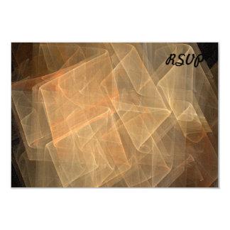 Fractal 3.5x5 Paper Invitation Card