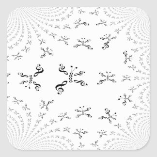 Fractal-ized Music Butterfly Square Sticker