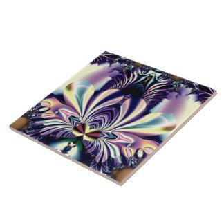 Fractal Jeweled de la flor de Lotus del tono Teja Ceramica