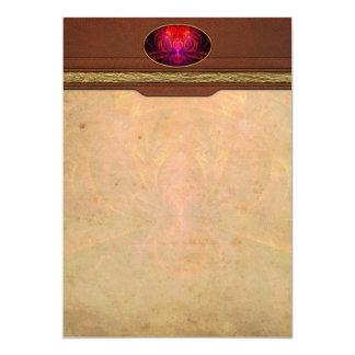 Fractal - joya del Nilo Invitación 12,7 X 17,8 Cm
