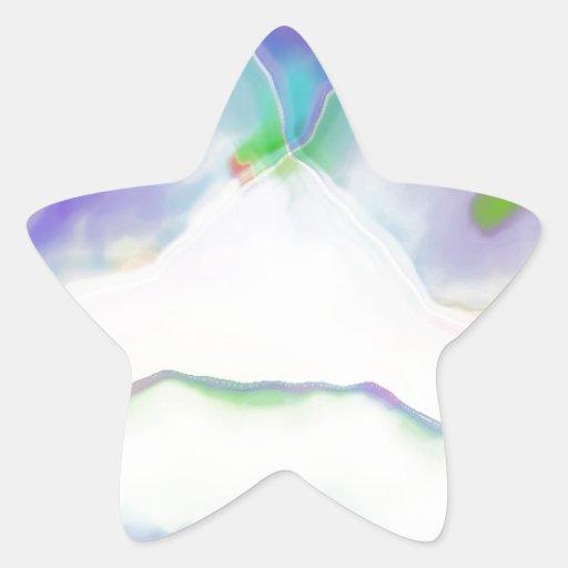 Fractal.jpg Pegatina En Forma De Estrella