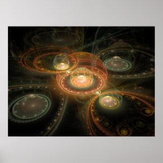 Fractal juliano magnífico óptico 06 del arte 3D Poster