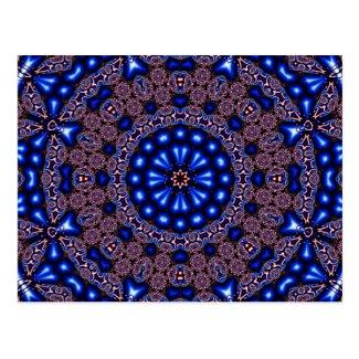 Fractal Kaleidoscope Art 670 Postcard