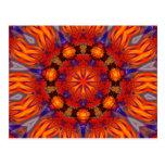Fractal Kaleidoscope Art 726 Postcard