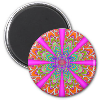 Fractal Kaleidoscope Summer Party Magnet