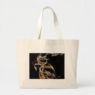 Fractal Kitty Large Tote Bag