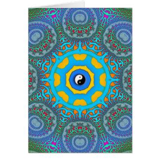 fractal knotwork yinyang  card