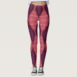 Fractal Lace Purple+Earth Pink Leggings ★Psydefx★