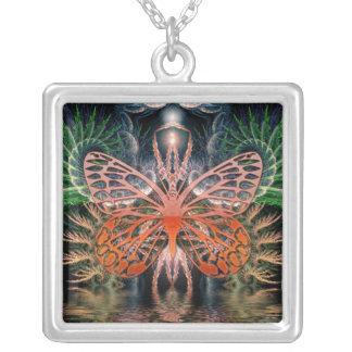 Fractal Lady Butterfly Necklace