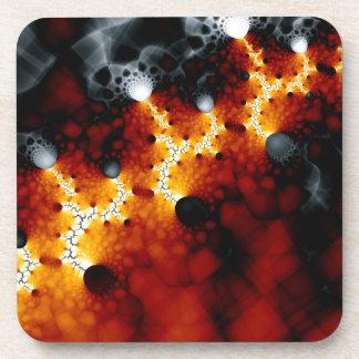 Fractal lava drink coaster