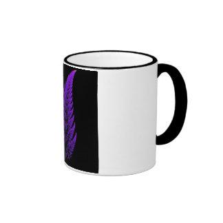 Fractal leaf ringer coffee mug