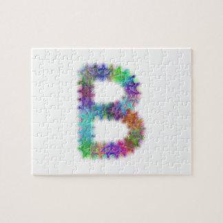 Fractal letter B monogram Jigsaw Puzzle