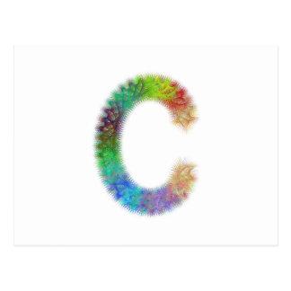 Fractal letter C monogram Postcard