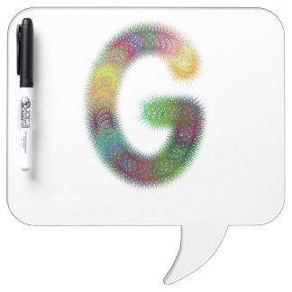 Fractal letter G monogram Dry-Erase Board