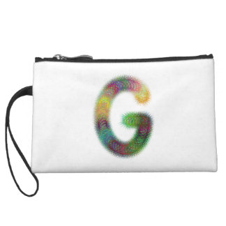 Fractal letter G monogram Wristlet