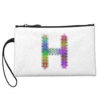 Fractal letter H monogram Wristlet Wallet