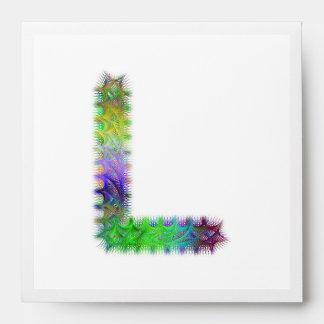 Fractal letter L monogram Envelope