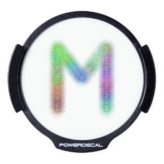 Fractal letter M monogram LED Car Decal