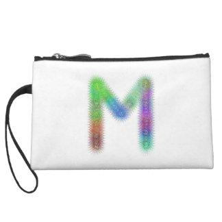 Fractal letter M monogram Wristlet Wallet