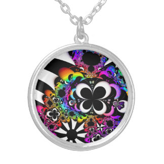 Fractal Life Silver Plated Necklace