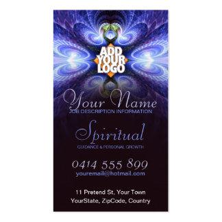 Fractal ligero espiritual con la tarjeta de visita