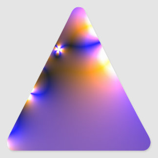 Fractal Light Flowers Triangle Sticker