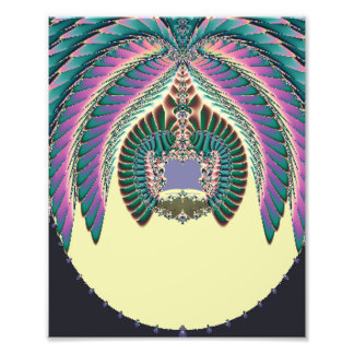 Fractal Lignt and Lampshade Photographic Print