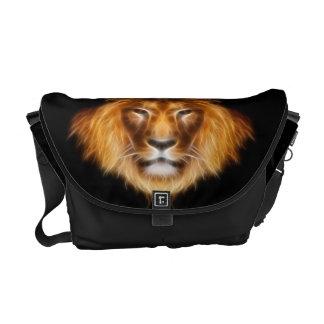 Fractal Lion Messenger Bag