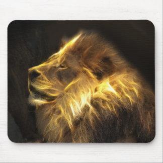 Fractal lion mouse pad