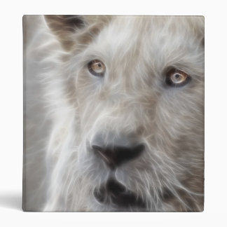 Fractal Lion with Cat face Binder
