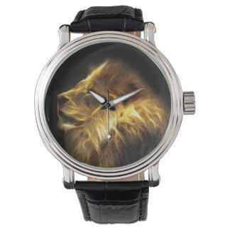 Fractal lion wristwatch