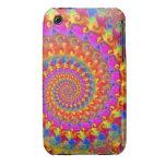 Fractal loco rosado Case-Mate iPhone 3 protector