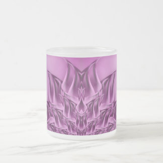 Fractal Lotus Flower Abstract Frosted Glass Coffee Mug