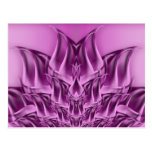 Fractal Lotus Flower Abstract Postcard