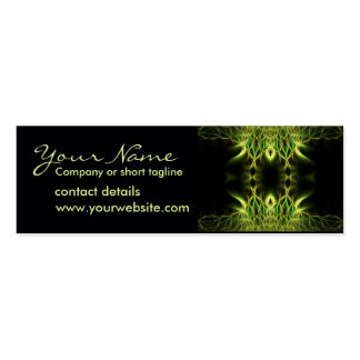 Fractal Lotus Profile Card Double-Sided Mini Business Cards (Pack Of 20)