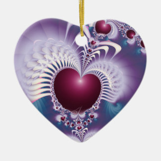 Fractal Love Hearts Heart Ornament