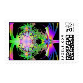 Fractal love postage stamp