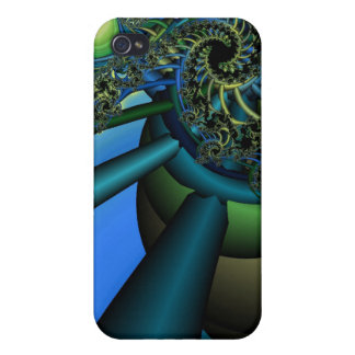 Fractal Machine iPhone 4 Cases